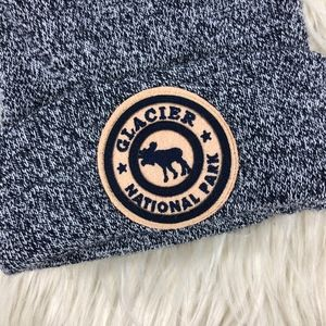 Glacier National Park Accessories - Glacier National Park Patch Detail Beanie Hat